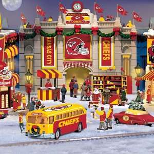 Kansas City Chiefs Collectible Christmas Village