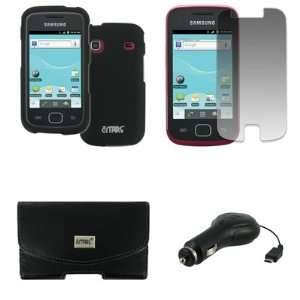 EMPIRE Samsung Repp Black Leather Case Pouch with Belt