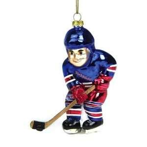 York Rangers Nhl Glass Hockey Player Ornament (4)