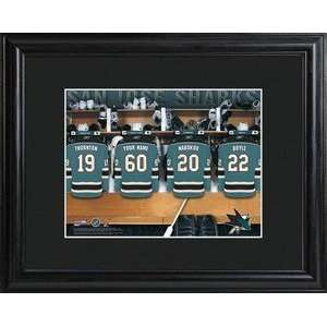 San Jose Sharks NHL Locker Room Personalized Print Sports