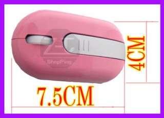 Mini 2.4GHz USB Wireless PC Laptop Optical Mouse Mice Pink