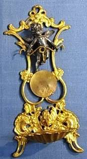 HGU25 * CHERUB ANGEL POCKET WATCH WALL HOLDER ANTIQUE GERMAN 1880´S