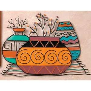 SOUTHWEST metal WALL HANGING native AMERICAN art decor