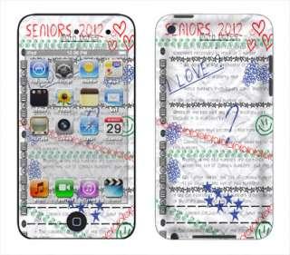 Seniors 2012 Skin Vinyl Decal Wrap for Apple iPod Touch 4th Gen