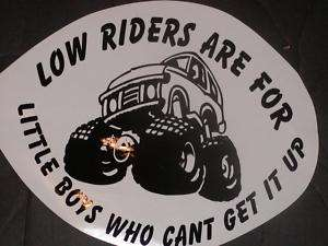LOW RIDERS R 4 Decal Decals LIFTED Super Swamper Truck