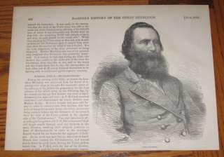 Confederate General James Longstreet 1866 Portrait