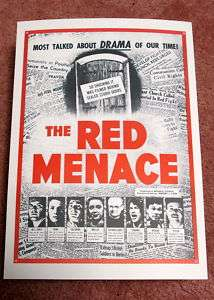 The Red Menace repro film poster   anti Communist era