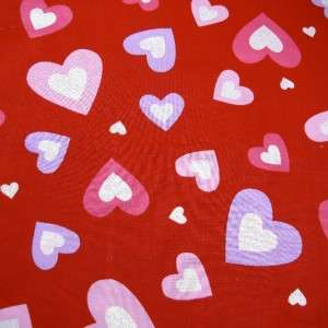 Fabric Traditions Cotton Fabric, White Hearts on Red, Valentines 1