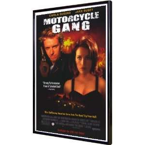 Motorcycle Gang 11x17 Framed Poster: Home & Kitchen