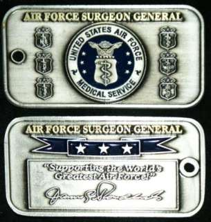 AIR FORCE SURGEON GENERAL MEDICAL SERVICE Challenge Coin
