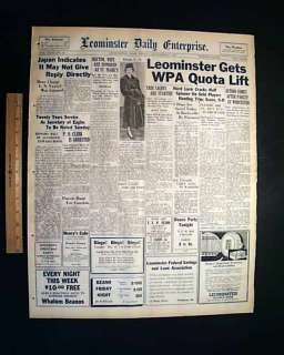 1937 ALCATRAZ ISLAND PRISON Convicts Escape ? Newspaper