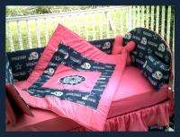 NEW baby crib bedding set m/w DALLAS COWBOYS HOT PINK
