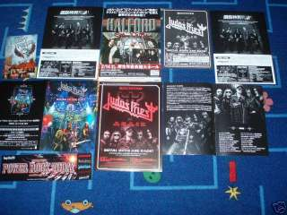 JUDAS PRIEST ROB HALFORD Japan Live concert CD DVD flyers x7 REUNITED
