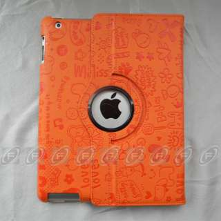 iPad 2 Rotating Magnetic Smart PU Leather Cover Case With 360° Swivel