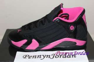 Nike Air Jordan 14 XIV GS Retro Black/Pink Rose 467798 012 Boys Girls