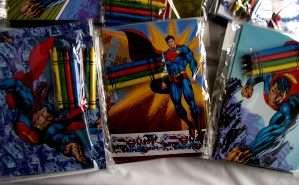 12 Superman Coloring Book & 48 Crayon Party Activities