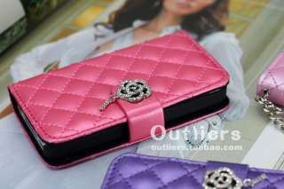 Pink Credit Car Wallet Leather Pouch Case Cover Holster for Apple