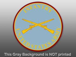 Army Infantry Seal Sticker   decal logo military rifles