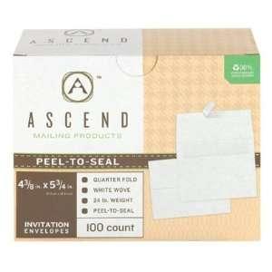Ascend 30% Recycled Whie Peel N Seal Greeing Card Envelopes (5 3/4 x