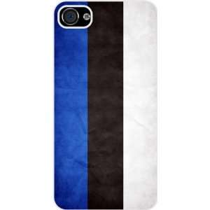 Rikki KnightTM Estonia Flag White Hard Case Cover for Apple iPhone® 4