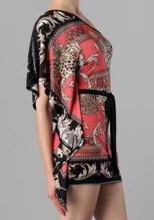 MM APPAREL Coral Animal Print One Shoulder Kimono Sleeve DRESS or TOP
