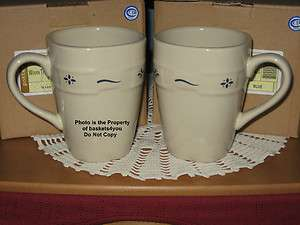 Longaberger Woven Traditions Updated Soft Square Mug   Classic Blue