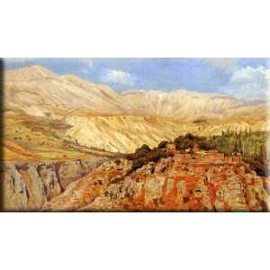 Village in Atlas Mountains, Morocco 30x17 Streched Canvas Art by Weeks