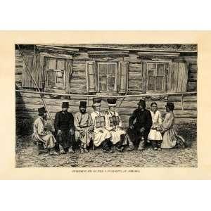 1882 Wood Engraving Art Ulyanovsk Simbirsk Cheremiss Mari