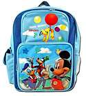 Disney Mickey Mouse School Size Backpack and Lunch Box Set Donald