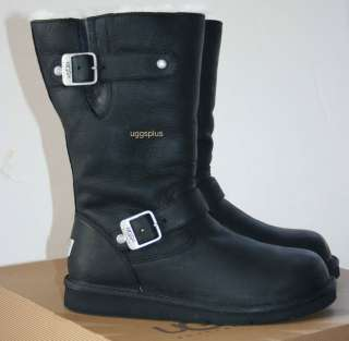 KENSINGTON UGG AUSTRALIA BIKER BOOTS BLACK US6 7 8 9 10 889830616281