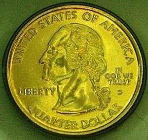United States 2005 D Kansas Gold Plated State Quarter