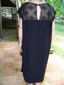 POSITIVE ATTITUDE 24 UNIQUE BLACK LACE MOTHER BRIDE COCKTAIL DRESS 24