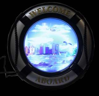 Buoy Motion Fish Lamp New York Twin Towers Collectible