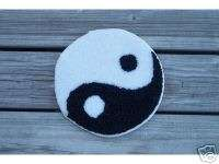 Yin Yang Friendship Ying Yang Area Throw Rug wall hanging art black