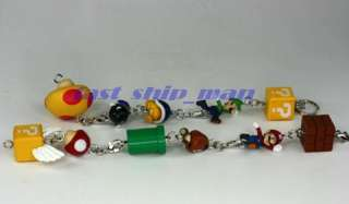 nintendo Super mario Bros keychain DX full set