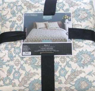 Turquoise Blue Floral Quilt Full Queen Bed Comforter