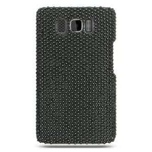 Premium Full Diamond Crystal Case for HTC HD2 / Black