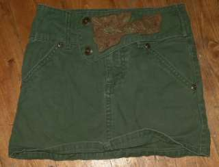 Girls Size 5 Green Denim Blue Jean SKIRT
