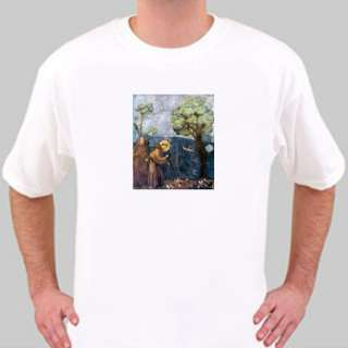 PATRON SAINT OF ANIMALS ST FRANCIS ASSISI TEE T SHIRT