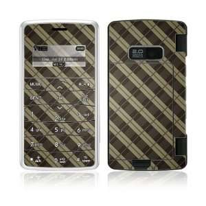 Plaid Decorative Skin Cover Decal Sticker for LG enV2