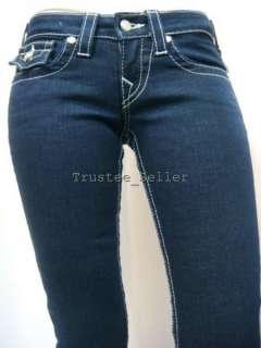 TRUE RELIGION Women Joey Glitz Glam Crystals Jeans 24