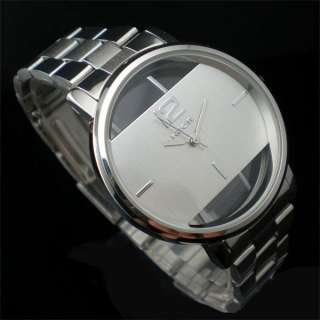 Elegant Super Cool Stainless Steel Men Lady Wrist Watch
