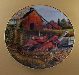 Autumn Flush FARMALL FAMILY Plate Tractor Pheasant MIB