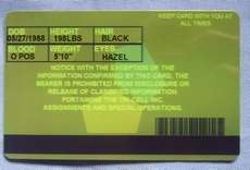 Resident Evil 5 Tricell ID Card Plastic Cards cosplay