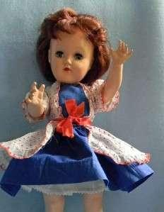 Ideal TONI P 90 Doll 14 Dark Auburn Hair Original Dress Hard Plastic