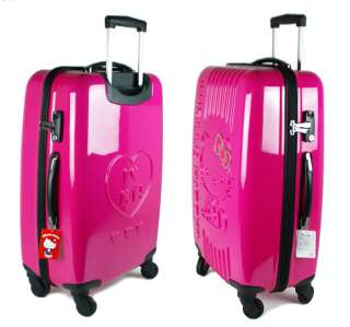 Hello Kitty Travel Carry luggage bag Rose suitcase bags 24 Sanrio