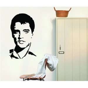 Large Elvis Presley Black and White Wall Sticker Decal for Bedroom