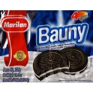 Bauny 4 Praticos Pacotes Internos, Biscoito Recheado, Sabor Baunilha