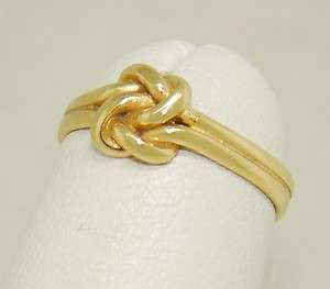 Retired James Avery Lovers Knot Ring 14kt Gold