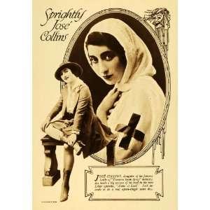 1916 Print Jose Collins English Actress Singer Operetta